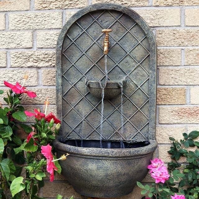 Wall Water Fountain Outdoor Stone Inch Feature Indoor Fountains Uk Outdoor Wall Fountains Fountains Outdoor Wall Fountain