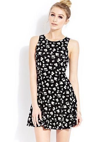 Wild Daisies Skater Dress | FOREVER21 - 2000087712