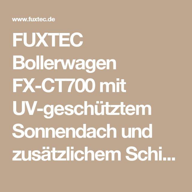 FUXTEC Bollerwagen FX-CT700 mit UV-geschütztem Sonnendach und zusätzlichem Schiebegriff GRAU | Bollerwagen | Bollerwagen | Heim & Freizeit | FUXTEC Gartengeräte
