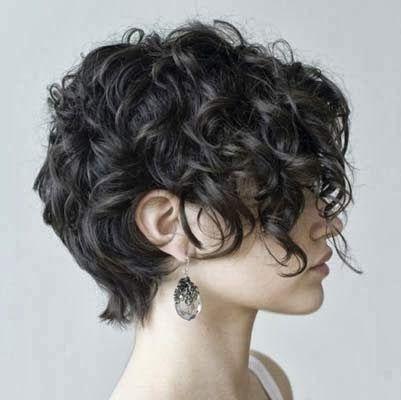 Imagens de cortes de cabelos curtos cacheados