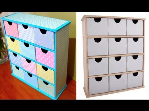 222 best storage cardboard box images on pinterest card boxes makeup storage ideas do it yourself twelve drawer kit solutioingenieria