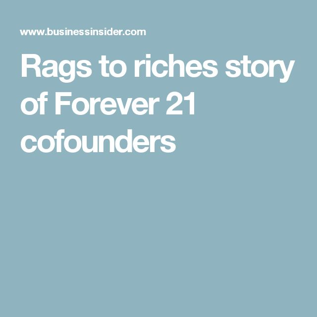 Rags to riches story of Forever 21 cofounders