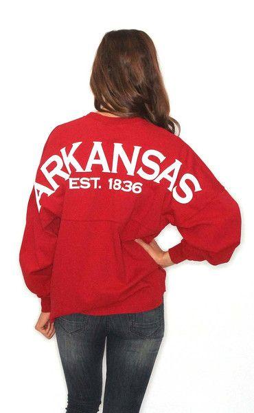 Arkansas Spirit Jersey - red