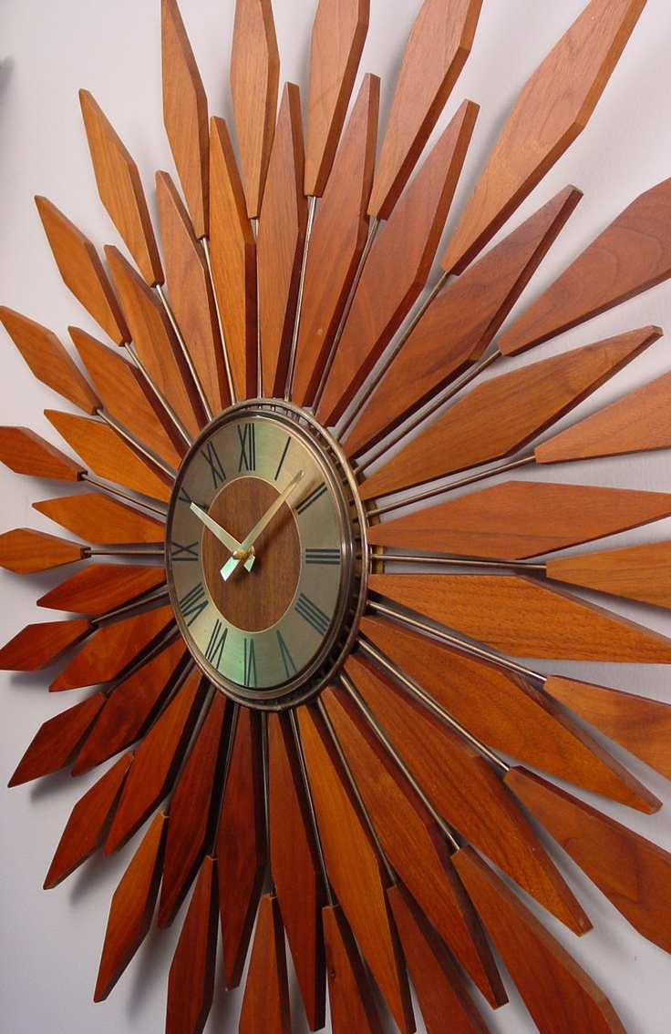 171 best starburst sunburst images on pinterest midcentury super starburst clock by clubmoderne via etsy amipublicfo Images