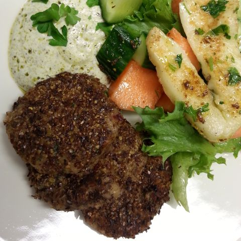 falafel recipe roasted ground milled flaxseed