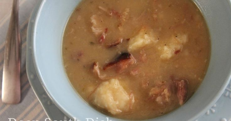 Belly warming and hearty, a slow stewed ham bone stock is finished with drop dumplings.  Ham Bone Dumplings     In the south, we'll drop s...