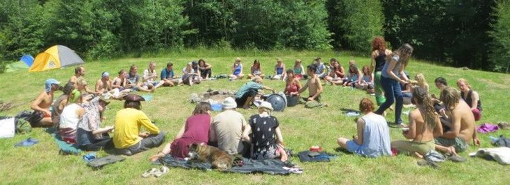 Rainbow Gatherings are not festivals. They're intentional gatherings of all kinds of people who come together for a month somewhere in nature to cook together, sing around the fires, make workshops, share experiences and generally come together as 'a family'. Some people see the Rainbow Gatherings as a manifestation of a new consciousness as a [...] » read more