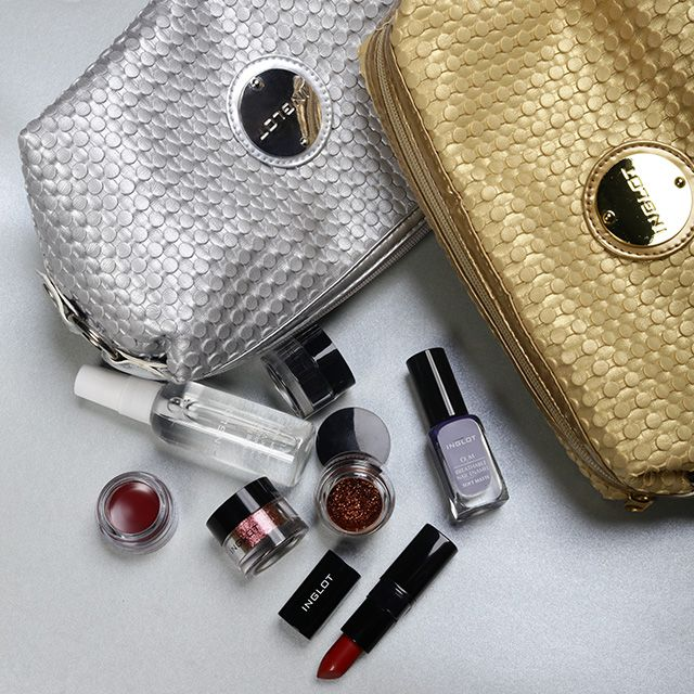 Cosmetic Bag Gold & Silver #cosmeticbag #accessories
