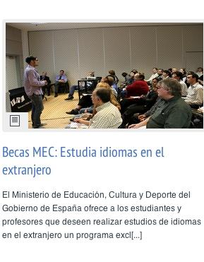 Becas MEC: Estudia idiomas en el extranjero #educacion