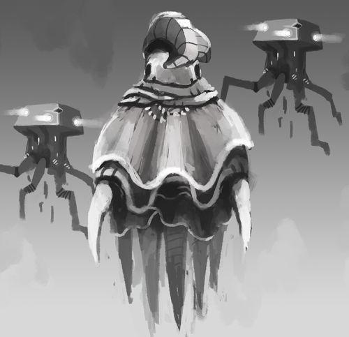 Galactic Echoes alien concept