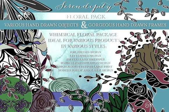 SERENDIPITY FLORAL PACKAGE by 33 Flowers on @creativemarket