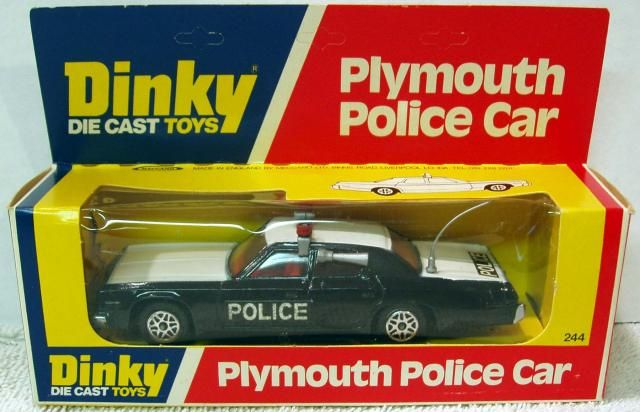 Picture Gallery For : #244 Plymouth Police Car - Toymart Price Guide