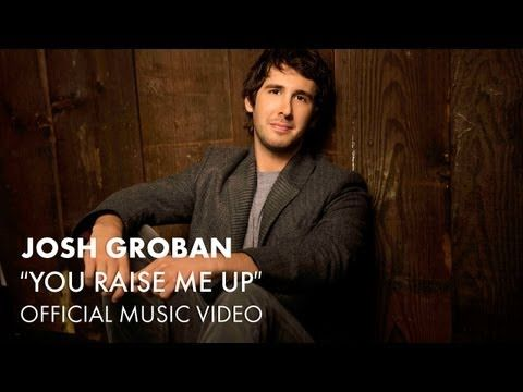 """Josh Groban - You Raise Me Up (Official Music Video) -  Although this is the """"official"""" video for this song (and therefore carefully edited), it's still my favorite.  A song for inspiration and one that expresses the highest gratitude...to whomever you need to give it to.  Listen when you're down or when you're joyful...the impact will be the same.  Amazing."""