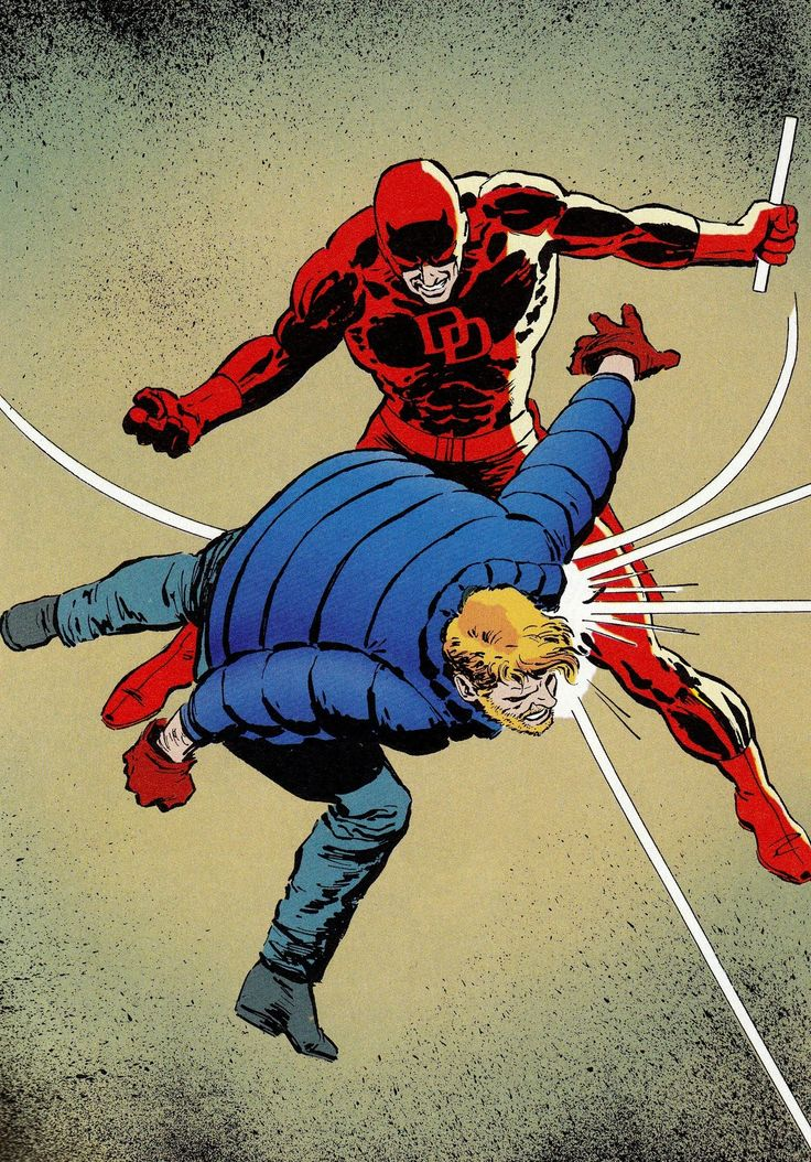 Daredevil vs. Matt Murdoch by David Mazzucchelli