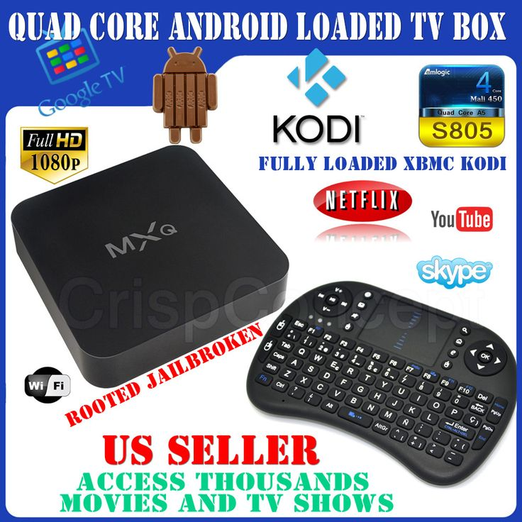 MBOX MXQ Quad Core Jailbroken Android 44 Loaded XBMC TV Box Wi Fi HDMI And