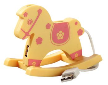 Creative Yellow Flower USB HUB High-Speed USB 2.0 4-Port USB Hub with 10cm cable