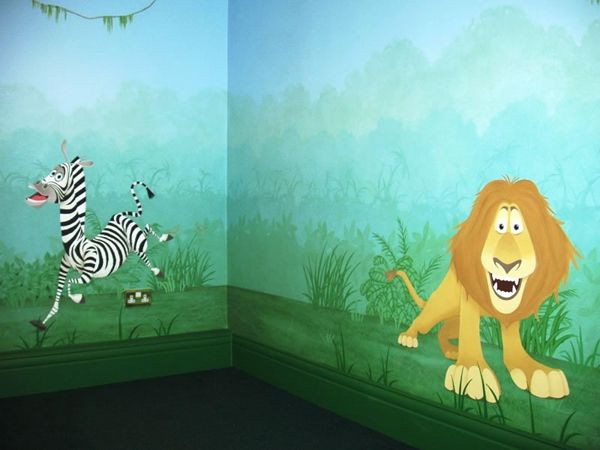1000 images about wall murals on pinterest stencils for Childrens mural ideas