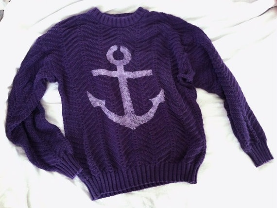 Oversized chunky knit Anchor Sweater $19.00