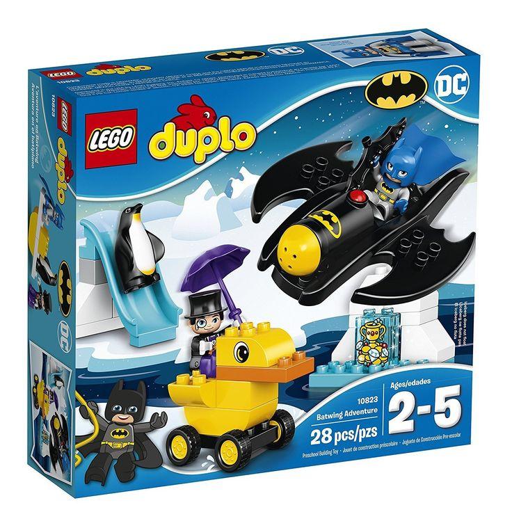 LEGO DUPLO DC Comics Super Heroes Batman Batwing Adventure 10823, Preschool, Pre-Kindergarten, Large Building Block Toys for Toddlers