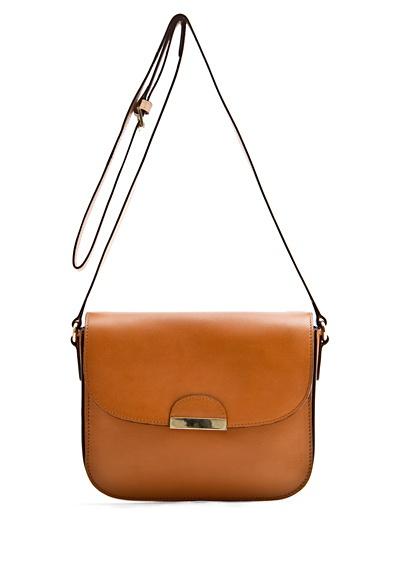 Mango - Lapel leather bag