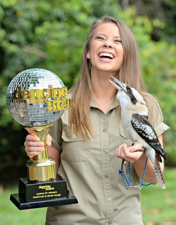 These Photos from Glamour of Bindi Irwin's Dancing With the Stars Trophy With Zoo Animals Will Make Your Day: