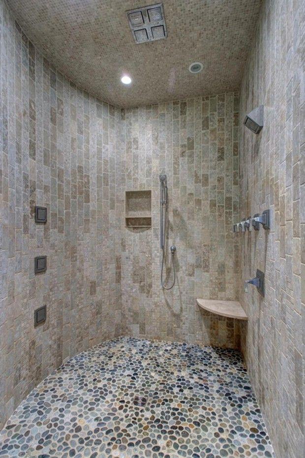55 best Pebble tile shower floor small bathroom images on ...