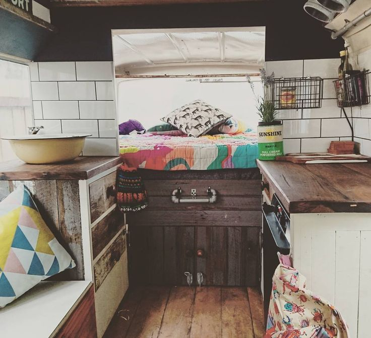 Here is another view of our bus renovation. We have fully renovated/ converted a 1969 Toyota coaster utilising recycled materials;including old fence pailings a old steel shed old scrap bits of wood and metal and old unwanted floorboards! You can check out more pics at @nat_lewy.  #Jimmyandtits #design #interiordesign #smallhouse #smallspaces #colour #kitchen #busconversion #vanlifediaries #vanlife #bedroom #lifeontheroad #travel #woodwork #sustainable #sustainability #recycled #recycle…