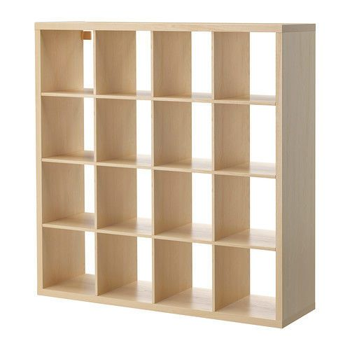 Ikea KALLAX 16 4x4 Shelf Shelving Unit Bookcase Storage in Birch Effect