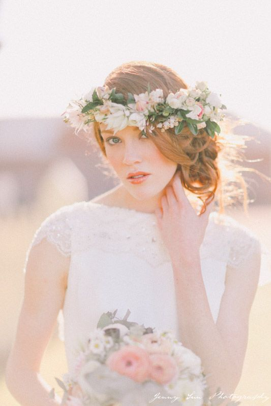 Soft romantic vintage style. Hair & Makeup by Amy Chan Hair & Makeup Artistry