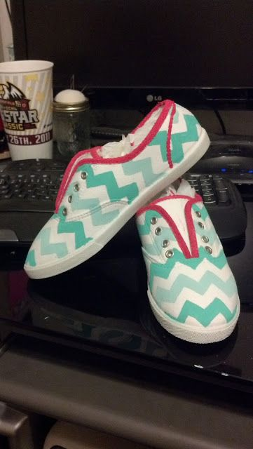 I have a pair of ugly blue keds  that I could do this with