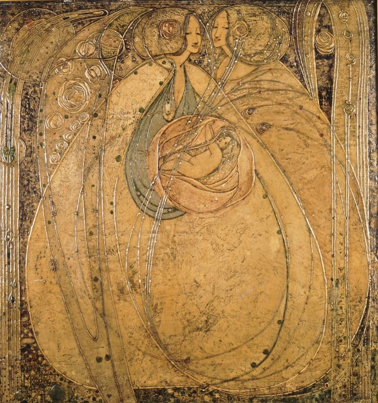 Photograph of Heart of the Rose panel by Margaret Macdonald, 1901. (MC/A/2)