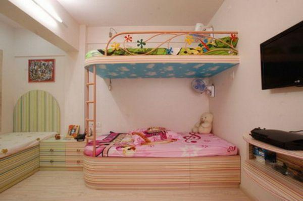 kinderzimmer für mädchen - schönes hochbett