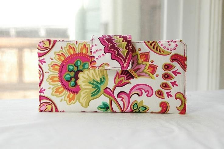 Pretty, handmade wallets.
