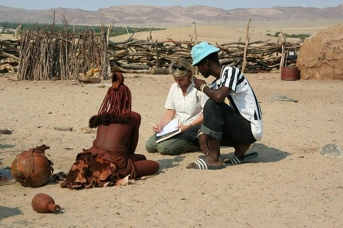 Meet our new Sustainability Manager, Dr Sue Snyman - seen here on a field trip to a Himba community in northern Namibia.
