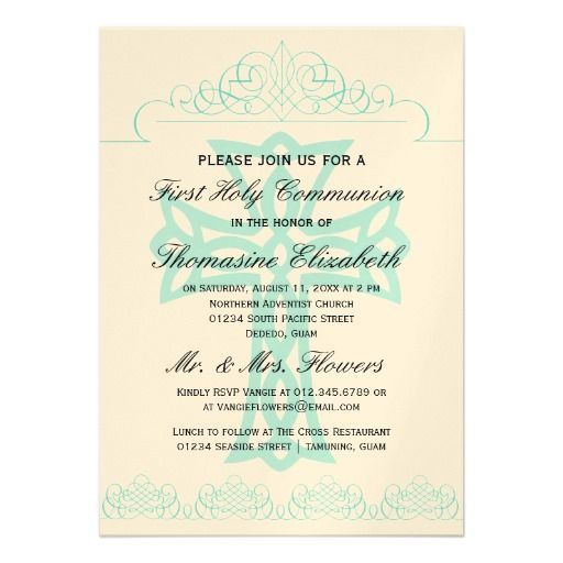 42 best First Holy Communion Invitations images on Pinterest First - invitation templates holy communion