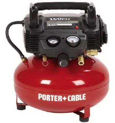 2 HP 6 Gallon Pancake Oil Free Compressor Porter Cable | Air Compressors