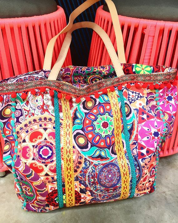 Pom Bags Beach Yoga Bag Thai Travel Weekend Boho Teresinha