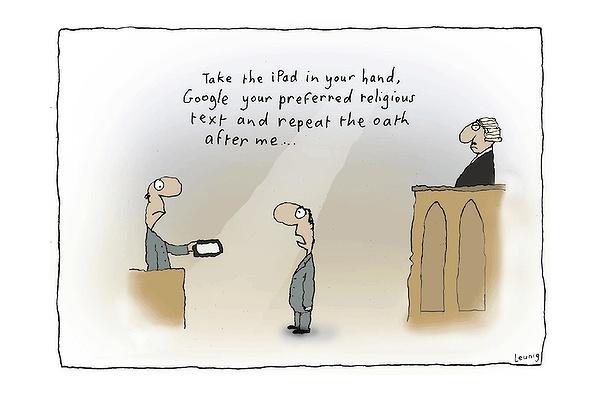 Ipad oath - Michael Leunig