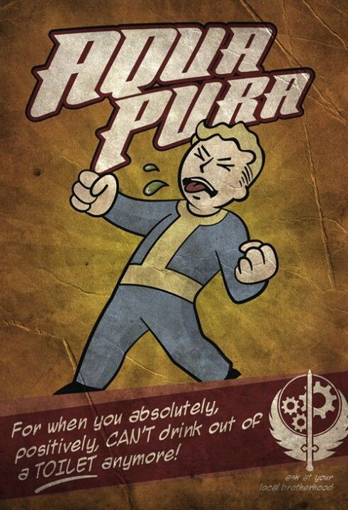 Funny fallout wallpaper for mobile aqua pura