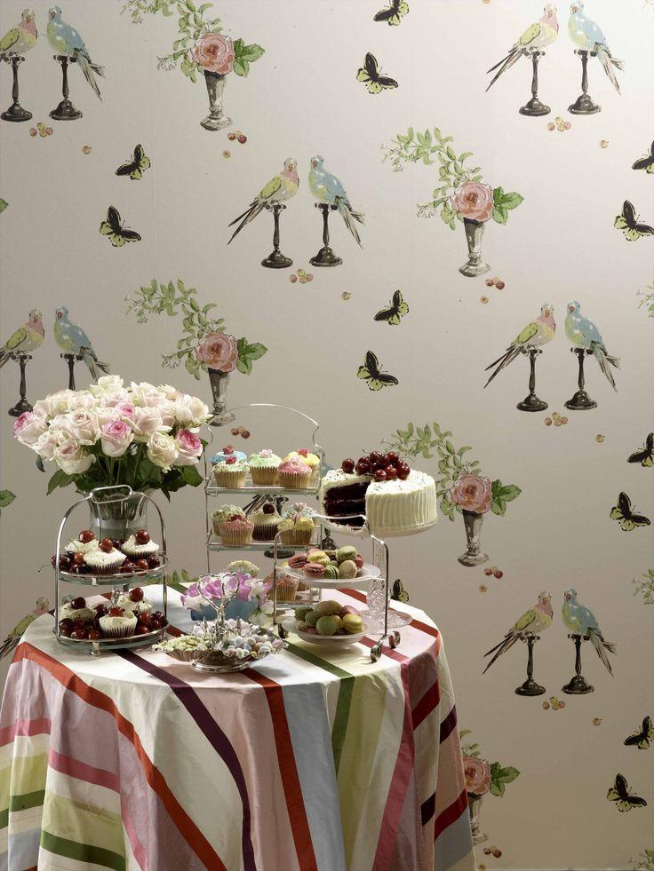 PERROQUET - Perroquet Autumn 2007 - Wallpaper Nina Campbell
