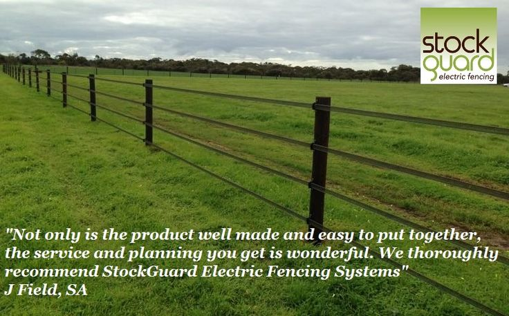 Our customers are wonderful. Another lovely example of a horse safe fence supplied by StockGuard Electric Fencing Systems www.stockguard.com.au