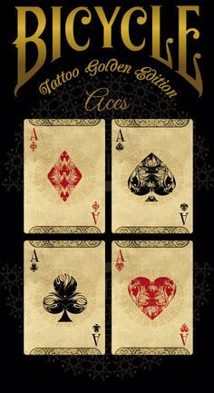 Bicycle® TATTOO Golden Edition Playing Cards by Phoenix Playing Cards — Kickstarter GET YOURS BEFORE MARCH 31 DEADLINE.