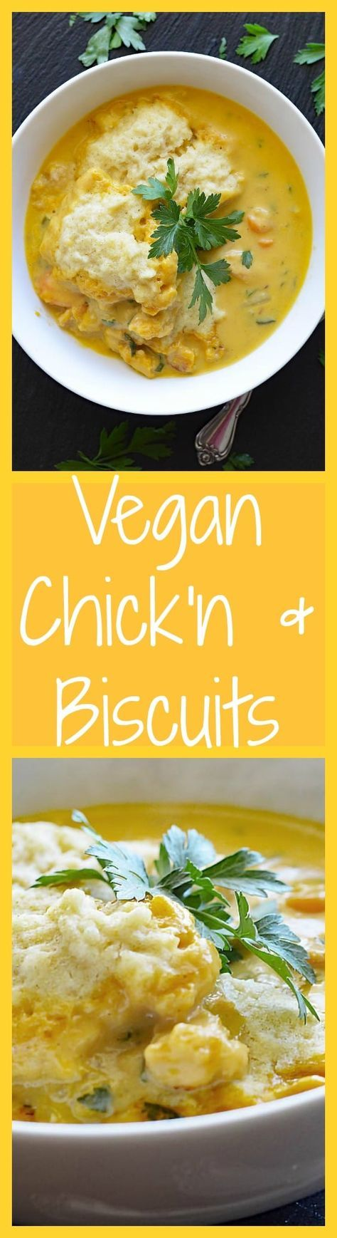 Vegan Chicken and Biscuits