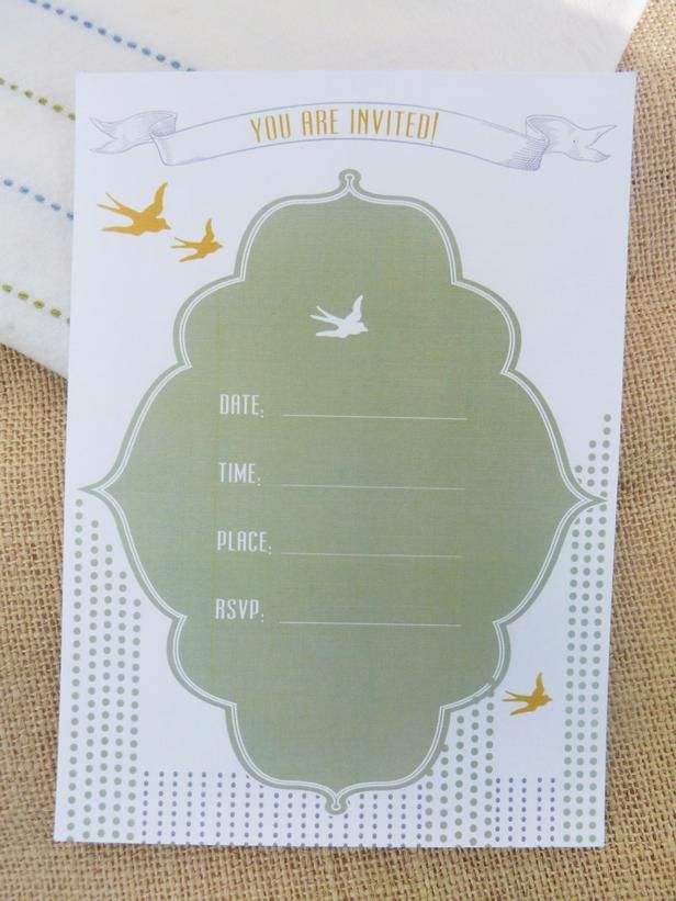 Our Favorite Printable Party Invitations for Year-Round Celebrations : Decorating : Home & Garden Television