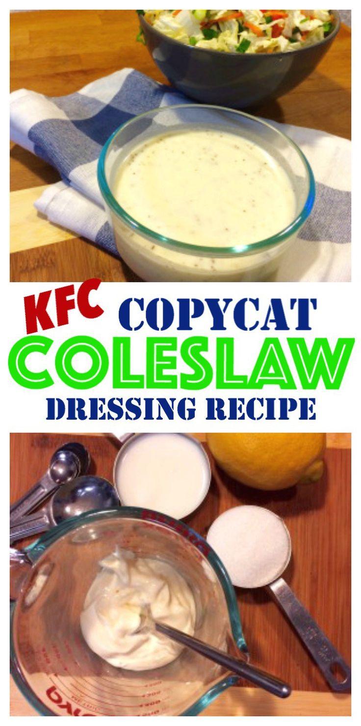 Copycat Old Style KFC Coleslaw Dressing