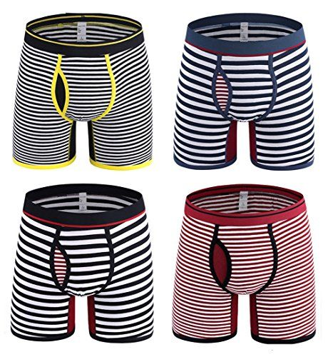 Okany Mens Cotton Boxer Briefs Sports Pack for Mens Underwear Pack of 4 --  You