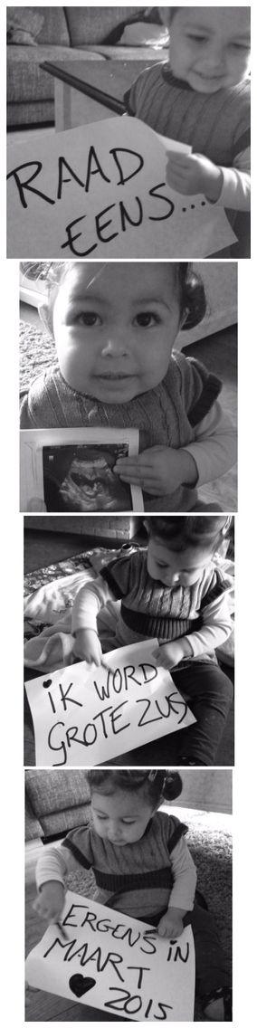 Zwangerschaps aankondiging. Ik word grote zus.