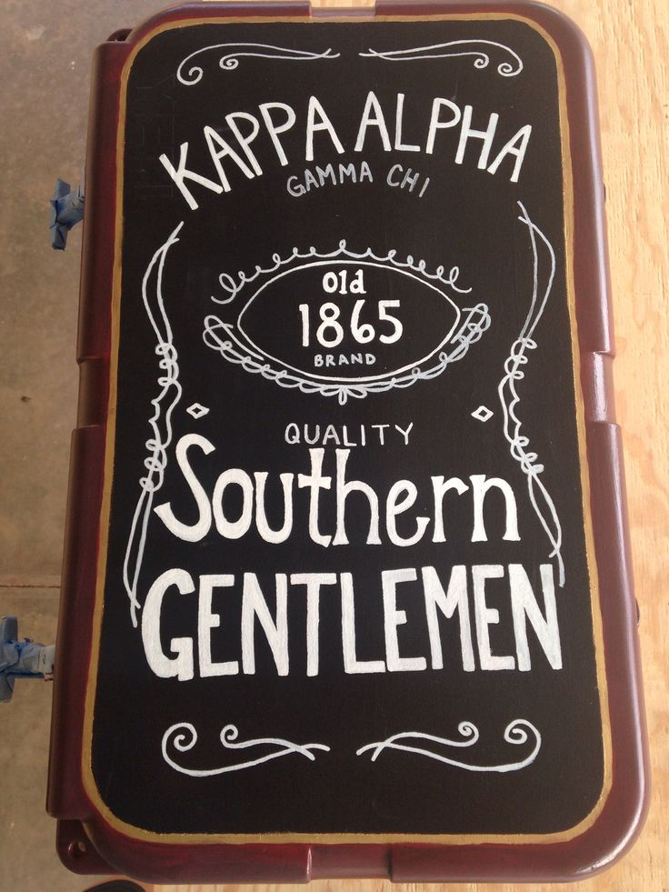 Kappa Alpha cooler for Old South!