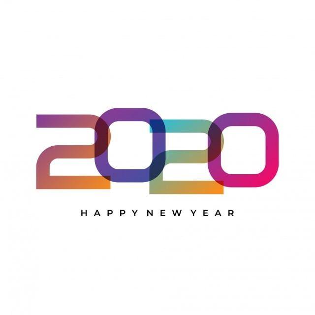 ملون 2020 السنة الجديدة تحية صمم بسيط حديث الحد الأدنى التصميم سهم التوجيه تصوير Eps 10 نص عصري على