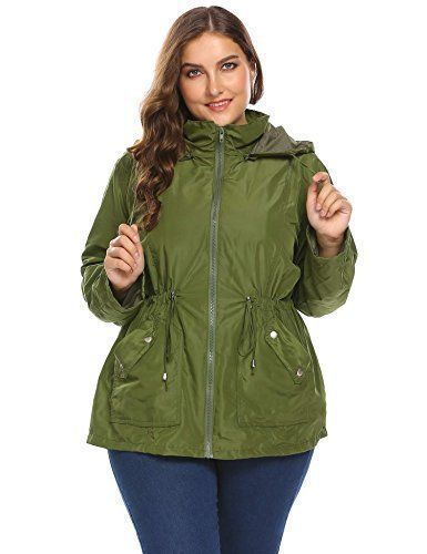 Product review for Dickin Women Oversized Lightweight Rain Jacket Waterproof Windbreaker Hooded Raincoat (XL-4XL).  - 100% Brand New. Material: 95% Polyester, 5% Spandex 3 Colors: Black, Dark Blue, Army Green Collar: Hooded Sleeve: Long Sleeve Sleeve Style: Button Cuff Style: Casual Pattern: Solid Decor: Zipper, Button, Pocket, Drawstring Design: Collar and Waist with Adjustable Drawstring, Detachable Hat,... #RaincoatsForWomenGreen #RaincoatsForWomenLongSleeve #RaincoatsForWomenBlue
